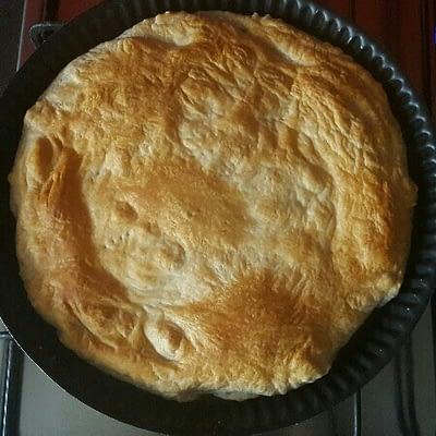 Recette tarte renversée aux tomates et oignons après cuisson