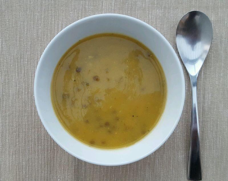 Soupe printanière bio aux lentilles crimson