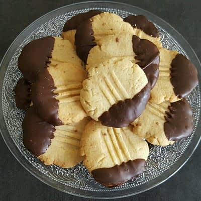 Recette sablés au chocolat pattes de chat aperçu