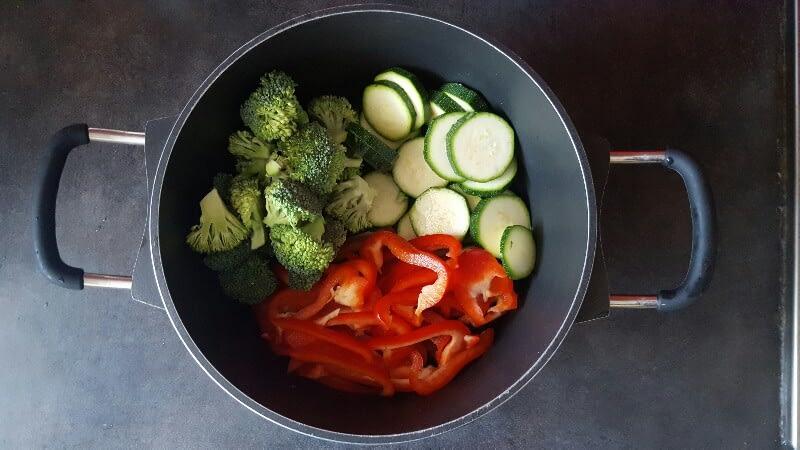 Recette poêlée de légumes coupez légumes
