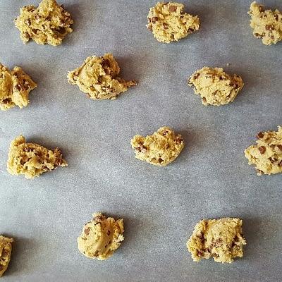 Recette cookies aux pépites de chocolat boules de pâte