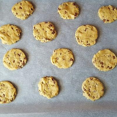 Recette cookies aplatissez les boules de pate