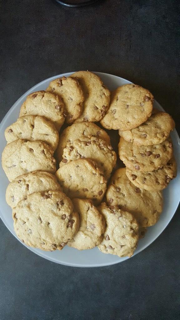 Recette cookies aux pépites de chocolat après cuisson